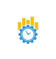 productivity and efficiency icon on white vector image vector image