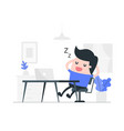 resting concept vector image