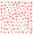 romantic background with hand drawn doodle hearts vector image vector image