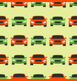 seamless pattern luxury car transportation vector image