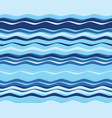 seamless wavy lines vector image vector image
