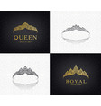 set lace luxury crown logos queen vector image vector image