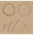 Set of decorative doodle wreaths vector image vector image