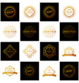 set of retro vintage insignias or logotypes vector image