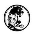 sign of muscular athlete fighter vector image