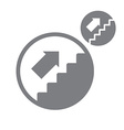 Stairs up simple single color icon isolated on vector image vector image