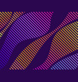 striped waves with liquid gradient modern trend vector image vector image