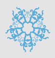 The image of snowflakes on a gray background vector image