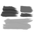 three brush strokes in black and gray vector image vector image