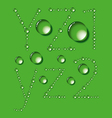 Water Drop Letters On Green New 09 vector image vector image