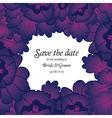wedding invitation with purple flowers vector image