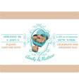 Wedding Vintage Invitation - Macaroon Heart Theme vector image vector image