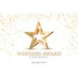 winner award gold star 3d symbol vector image vector image