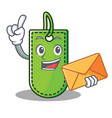 with envelope price tag character cartoon vector image vector image