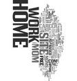 work at home mom site text word cloud concept vector image vector image