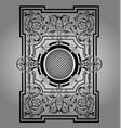 antique black frame victorian ornament beautiful vector image