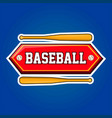 baseball players community emblem with bats and vector image