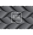 abstract pattern black and white 3d wave or vector image vector image