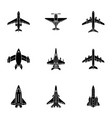 air vessel icons set simple style vector image vector image