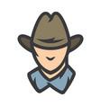 american cowboy head sign vector image vector image