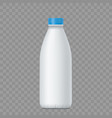 blank white bottle with milk vector image vector image