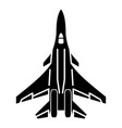 bomber icon simple style vector image vector image