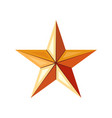 bronze star icon game achievements and awards 3d vector image vector image