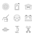 Car repairs icons set outline style vector image vector image