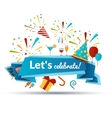 Celebration Emblem vector image vector image