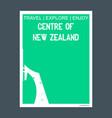 centre of new zealand monument landmark brochure vector image