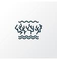 coral reefs icon line symbol premium quality vector image vector image