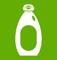 cream bottle icon green vector image vector image