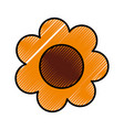 cute sunflower drawing icon vector image vector image