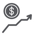 dollar growth glyph icon financial and graph vector image vector image