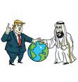 donald trump and prince mohammad bin salman vector image vector image