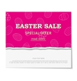 Easter sales with special offers vector image vector image