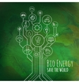 Ecology Infographic Bio Energy vector image vector image