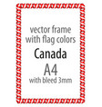 flag v12 canada vector image vector image