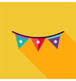 Flat Design Festival Flags Icon vector image vector image