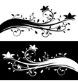floral decoration black and white variations vector image