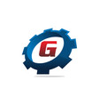 gear logo letter g vector image vector image