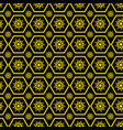 geometrical flowers and polygons pattern vector image vector image