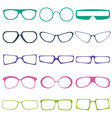 glases vector image