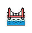 golden gate bridge san francisco usa flat color vector image