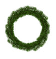 green christmas wreath isolated on white ba vector image