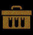 hexagon halftone analysis icon vector image vector image