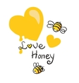 honey and Bee vector image vector image