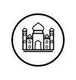 islamic icon mosque icon- iconic design vector image