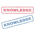 knowledge textile stamps vector image vector image