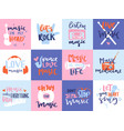 music love motivation lables badges karaoke vector image vector image
